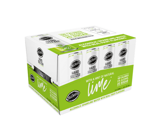 Mikes Hard Seltzer Lime Can 12x33cl